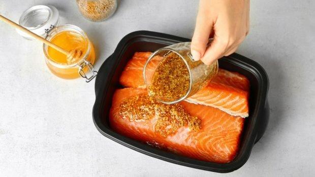 salmón a la miel